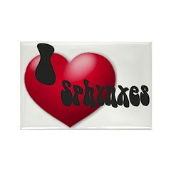 'I Love Sphynxes!' Rectangle Magnet