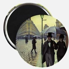 "Paris Street Rainy Day by Caillebotte 2.25"" Magnet"