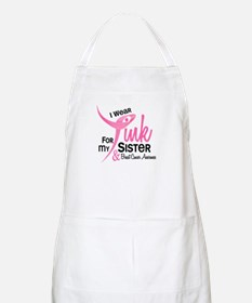 I Wear Pink For My Sister 41 BBQ Apron