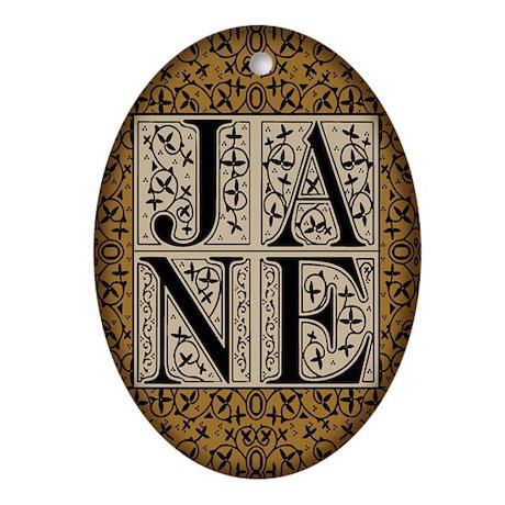 "Jane Austen ""JANE"" Oval Ornament"
