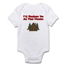 I'd Rather Be At The Cabin Infant Bodysuit