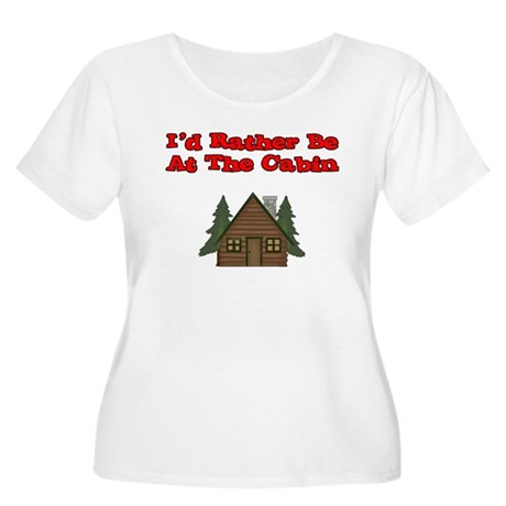 I'd Rather Be At The Cabin Women's Plus Size Scoop
