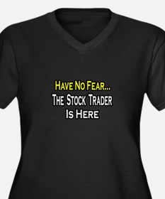 """""""No Fear...Stock Trader"""" Women's Plus Size V-Neck"""