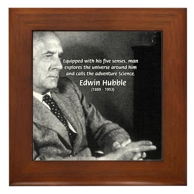 Exploration: Edwin Hubble Framed Tile by philosophy_shop