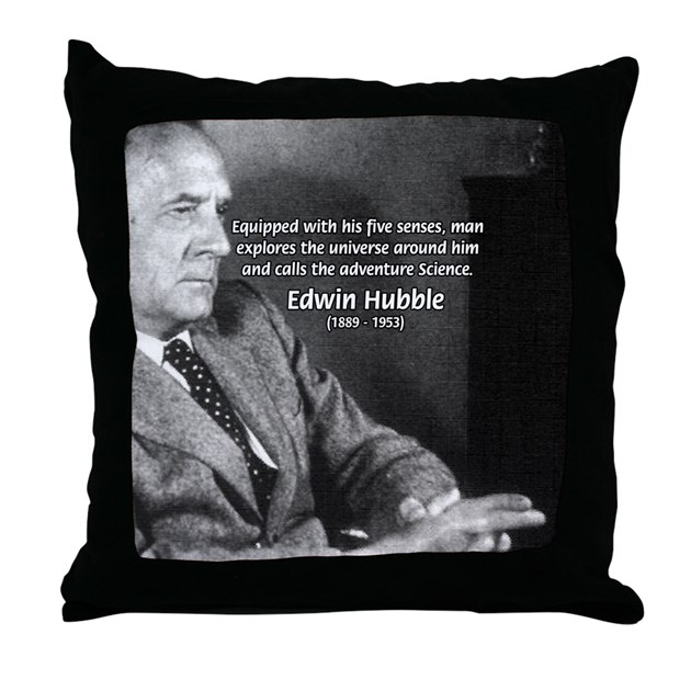 Exploration: Edwin Hubble Throw Pillow by philosophy_shop