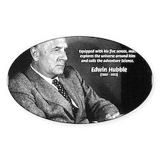 Exploration: Edwin Hubble Oval Decal
