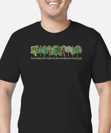 Plant a Tree Men's Fitted T-Shirt (dark)