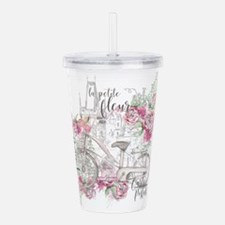Shabby Chic Bicycle Pe Acrylic Double-wall Tumbler