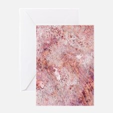 Pink Rose Gold Marble Watercolor Greeting Cards