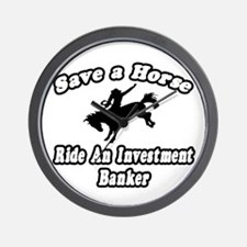 """""""..Ride Investment Banker"""" Wall Clock"""