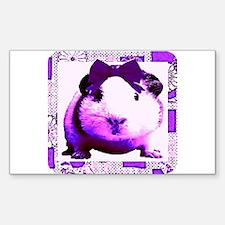 Cute Gorgeous the Guinea Pig Sticker Rectangular