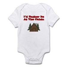 I'd Rather Be At The Cabin Infant Bodysuit