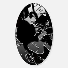 On Lead Guitar - Oval Decal