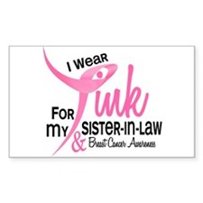 I Wear Pink For My Sister-In-Law 41 Decal