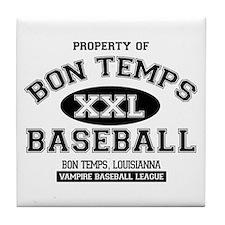Property of Bon Temps Basebal Tile Coaster