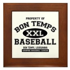 Property of Bon Temps Basebal Framed Tile