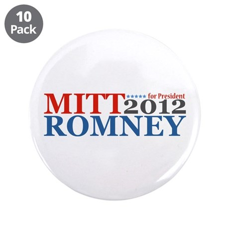 "Mitt Romney 2012 3.5"" Button (10 pack)"