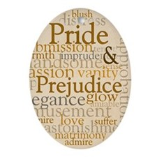Pride and Prejudice Oval Ornament