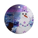 Mrs. Snowzie Holiday Ornament (Round)