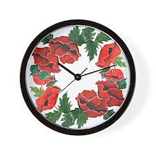 POPPY LOVERS GARDEN Wall Clock