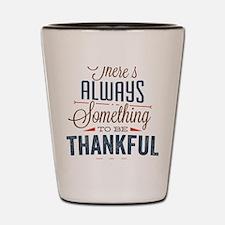 happy thanksgiving day Shot Glass