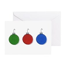 Holiday Ornaments Greeting Cards (Pk of 10)