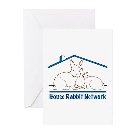 Rabbit Network Logo Greeting Cards (Pk of 10)