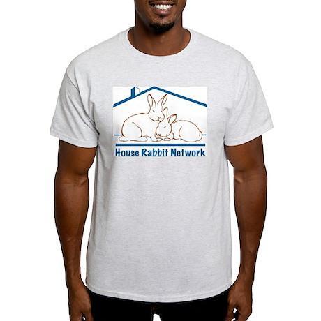 House Rabbit Network Logo Ash Grey T-Shirt