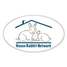 House Rabbit Network Logo Oval Decal