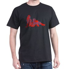 R&B Scared of Naked Girls Black T-Shirt