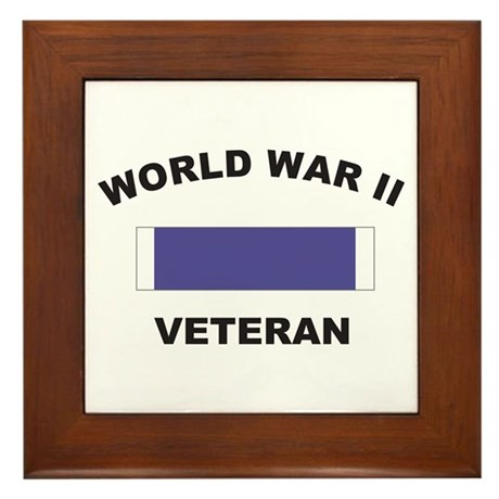 World War II Veteran Framed Tile