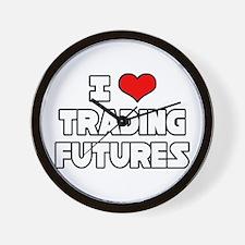 """""""I Love Trading Futures"""" Wall Clock"""