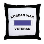 Korean War Veteran Throw Pillow