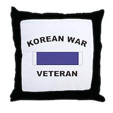 Korean War Veteran Throw Pillow