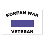 Korean War Veteran Rectangle Sticker