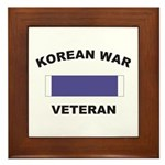 Korean War Veteran Framed Tile