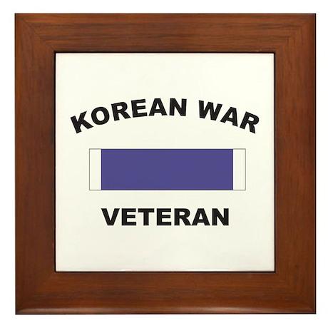 Korean War Veteran Framed Tile