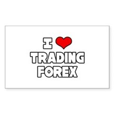 """I Love Trading Forex"" Rectangle Decal"
