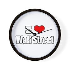 """""""I Love Wall Street"""" Wall Clock"""