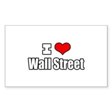 """I Love Wall Street"" Rectangle Decal"