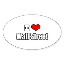 """I Love Wall Street"" Oval Decal"