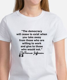 THOMAS JEFFERSON QUOTE Women's T-Shirt