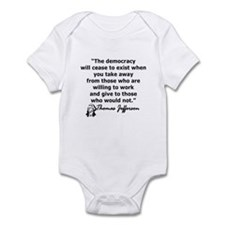THOMAS JEFFERSON QUOTE Infant Bodysuit