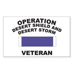 Gulf War Veteran Rectangle Sticker