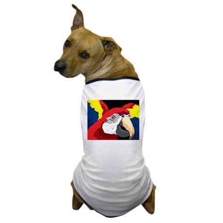 Scarlet Macaw Graphic Dog T-Shirt