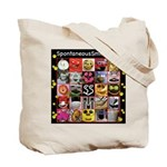 Spontaneous Smiley Tote Bag