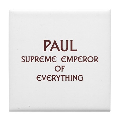 Personalized Paul Tile Coaster