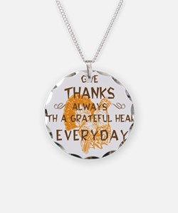 Happy Thanksgiving Day Necklace