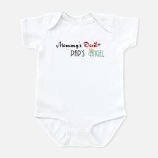 Mommy's Devil, Pap's Angel Infant Bodysuit
