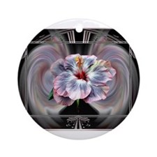 HnH Floral January Ornament (Round)